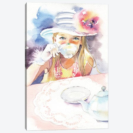 Tea Party Canvas Print #IGN68} by Marina Ignatova Canvas Art Print