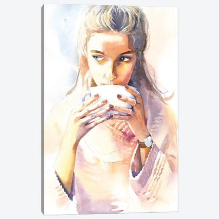Morning Cocoa Canvas Print #IGN69} by Marina Ignatova Art Print