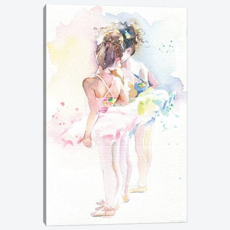 Little Ballerinas Canvas Print #IGN73} by Marina Ignatova Canvas Wall Art