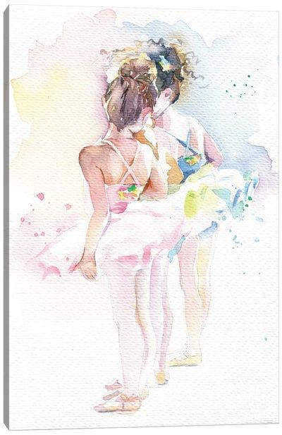Little Ballerinas Canvas Art Print