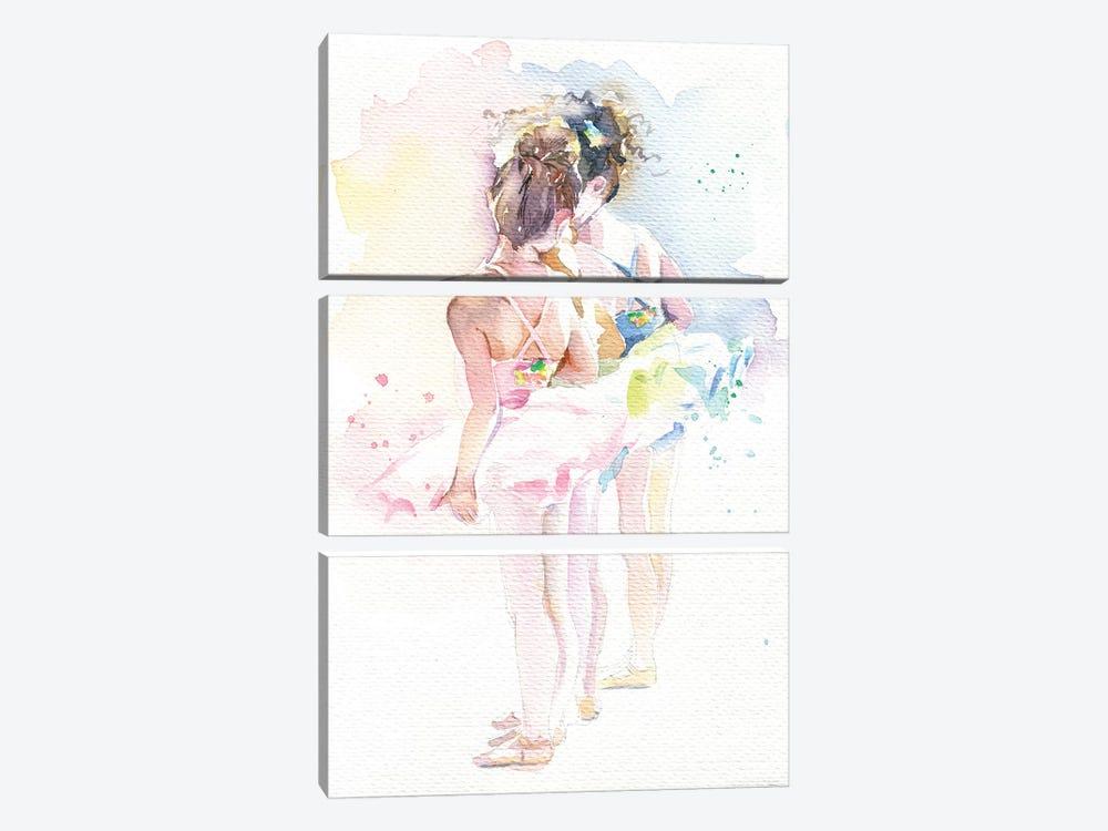 Little Ballerinas by Marina Ignatova 3-piece Canvas Wall Art