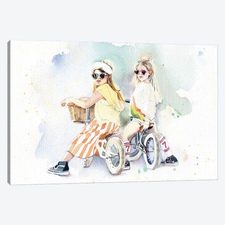 Girlfriends Canvas Print #IGN74} by Marina Ignatova Art Print