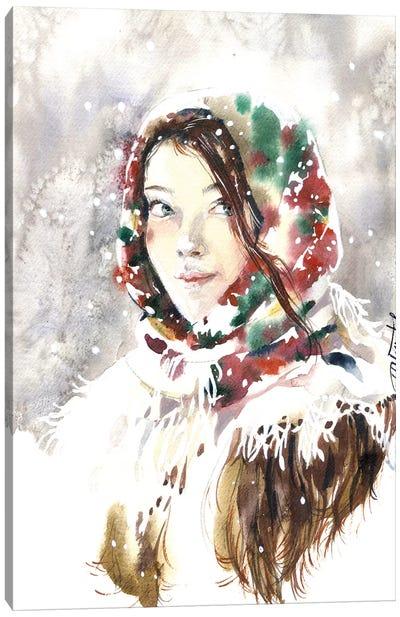 Russian Winter Canvas Art Print