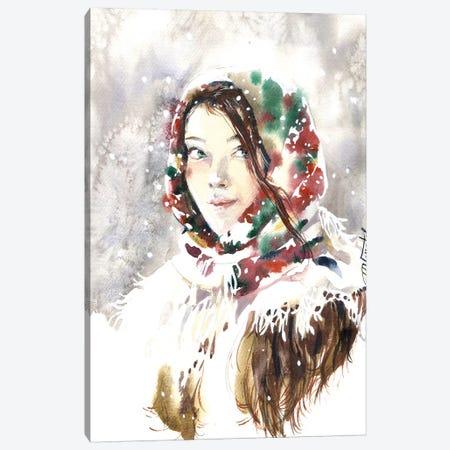 Russian Winter Canvas Print #IGN77} by Marina Ignatova Art Print