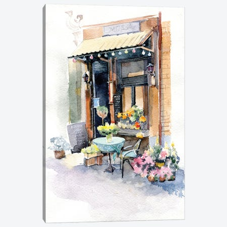 Small Shop Canvas Print #IGN78} by Marina Ignatova Canvas Artwork
