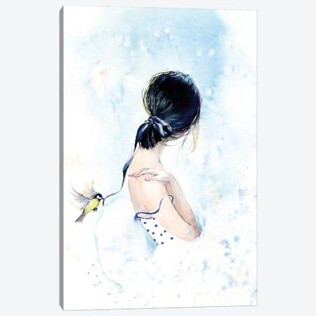 Birdy With A Ribbon Canvas Print #IGN7} by Marina Ignatova Art Print