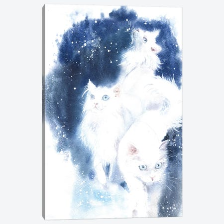 White Cats Canvas Print #IGN80} by Marina Ignatova Art Print