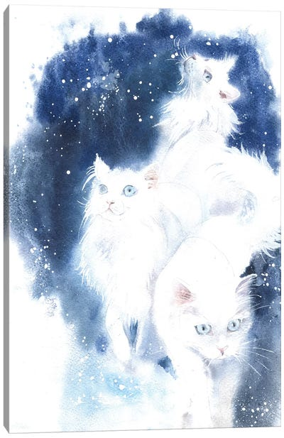White Cats Canvas Art Print