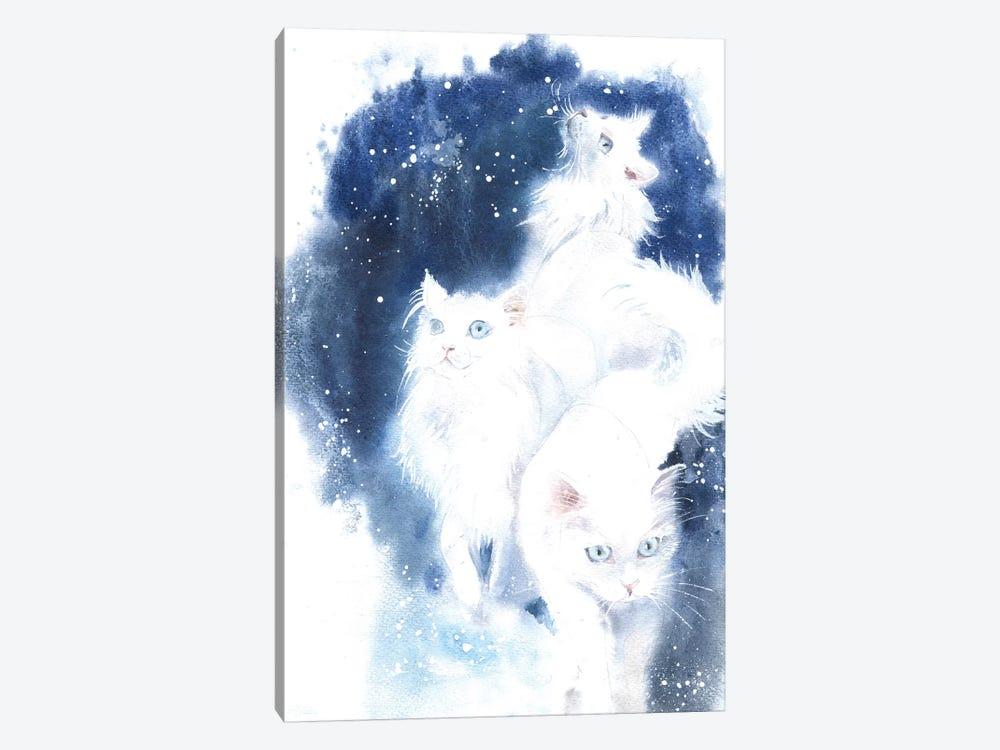 White Cats by Marina Ignatova 1-piece Canvas Wall Art