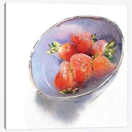 Strawberry Canvas Print #IGN84} by Marina Ignatova Canvas Art