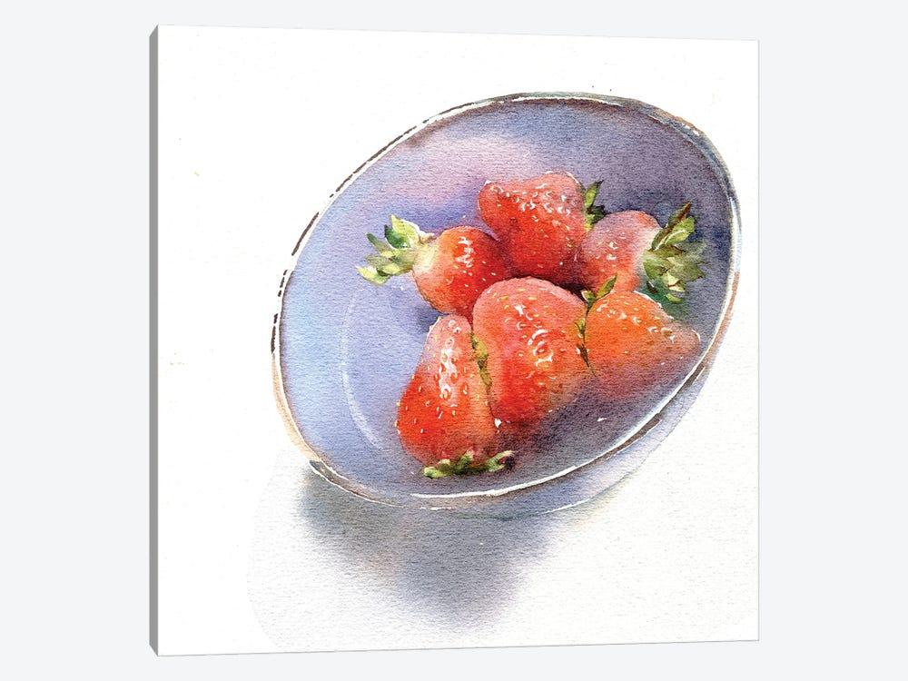 Strawberry by Marina Ignatova 1-piece Canvas Art