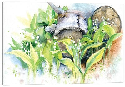 Lilies Of The Valley Canvas Art Print