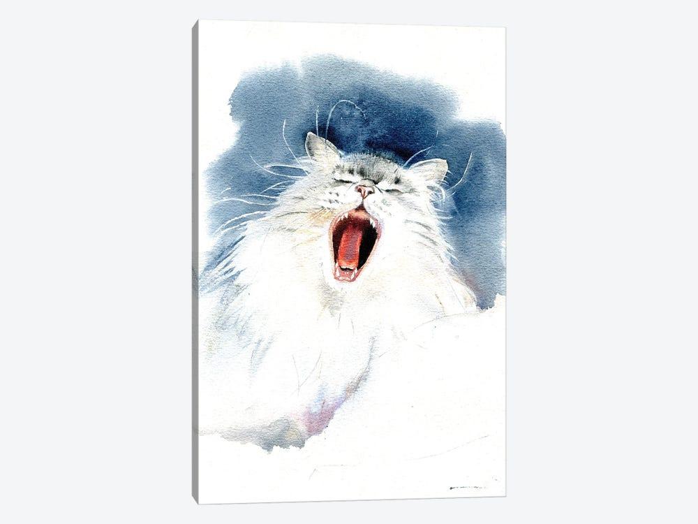 Yawning Cat by Marina Ignatova 1-piece Canvas Art
