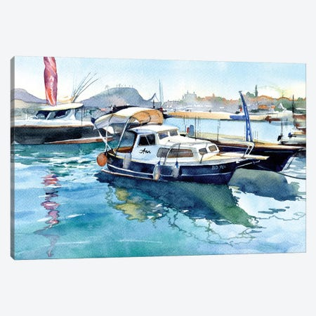 Boats II Canvas Print #IGN8} by Marina Ignatova Canvas Art
