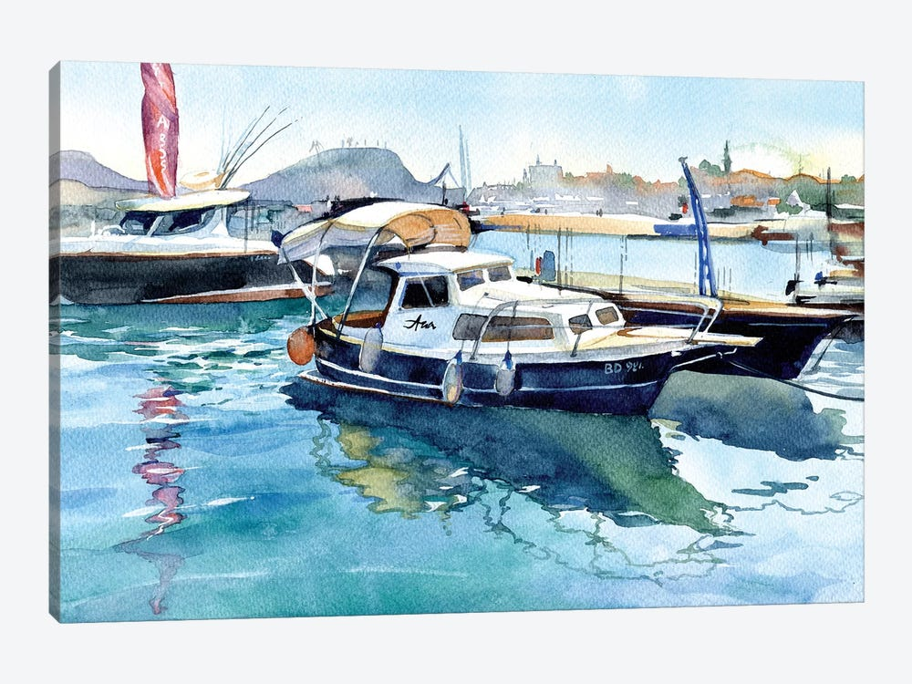 Boats II by Marina Ignatova 1-piece Canvas Art Print