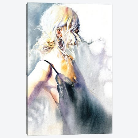 Girl With An Earring Canvas Print #IGN92} by Marina Ignatova Canvas Art