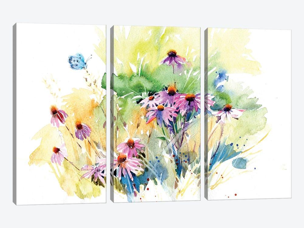 Flower Meadow by Marina Ignatova 3-piece Canvas Art Print