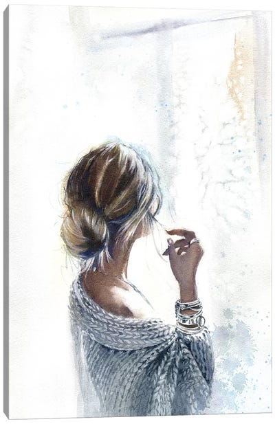 By The Window Canvas Art Print