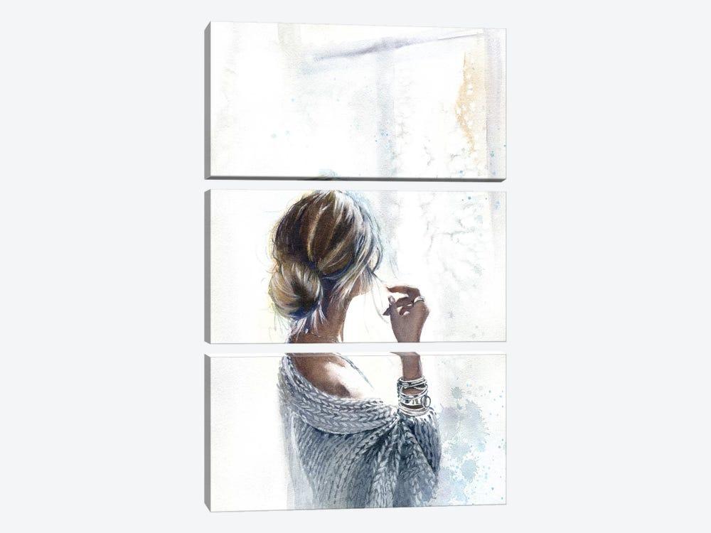 By The Window by Marina Ignatova 3-piece Canvas Wall Art
