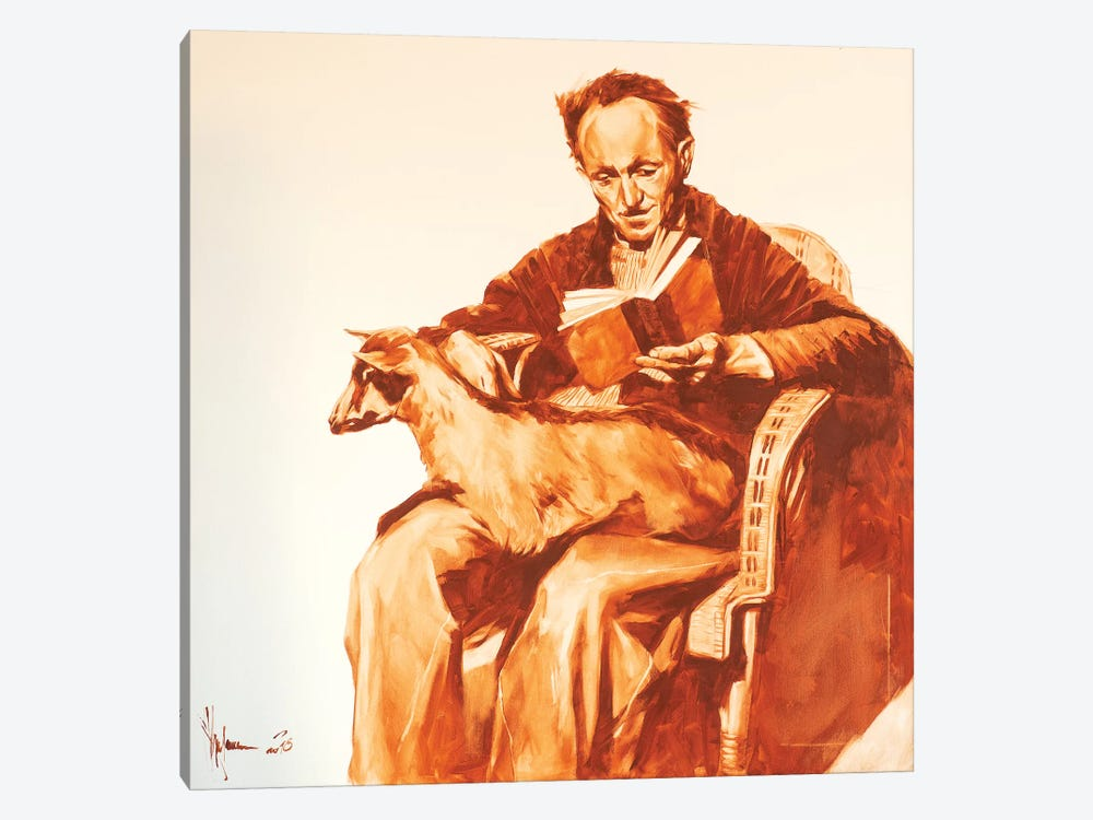 Old Man With Goat by Igor Shulman 1-piece Canvas Print