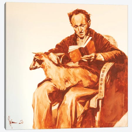 Old Man With Goat Canvas Print #IGS102} by Igor Shulman Canvas Art Print