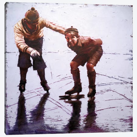 December, The First Ice Canvas Print #IGS12} by Igor Shulman Canvas Print