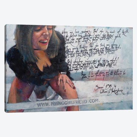 Listening Shakespeare Canvas Print #IGS42} by Igor Shulman Canvas Wall Art