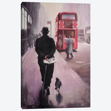 London Walking Canvas Print #IGS43} by Igor Shulman Canvas Artwork