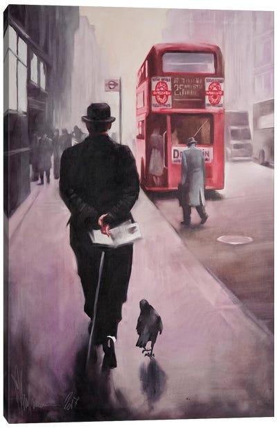 London Walking Canvas Art Print