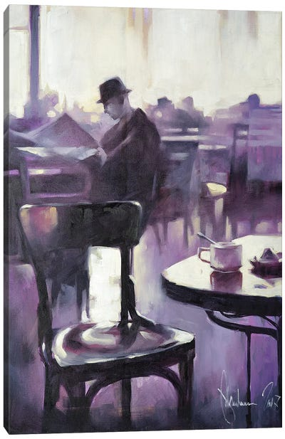 Morning Newspaper Canvas Art Print