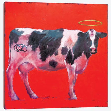 My Cow 3-Piece Canvas #IGS53} by Igor Shulman Canvas Print