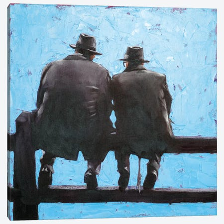 Serious Talk 3-Piece Canvas #IGS71} by Igor Shulman Canvas Print