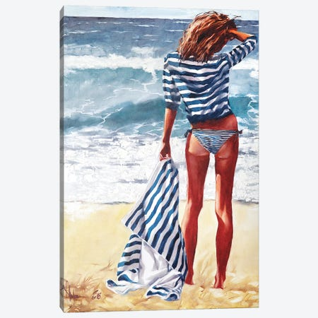 Striped Saturday Canvas Print #IGS79} by Igor Shulman Art Print