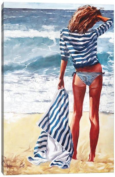 Striped Saturday Canvas Art Print