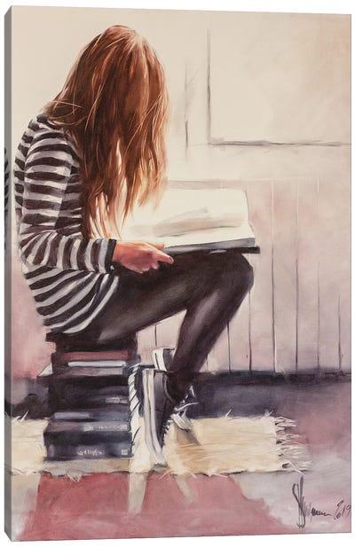Love To Read Canvas Art Print