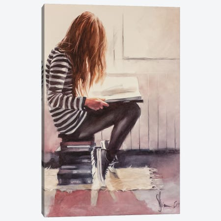 Love To Read Canvas Print #IGS93} by Igor Shulman Canvas Art Print