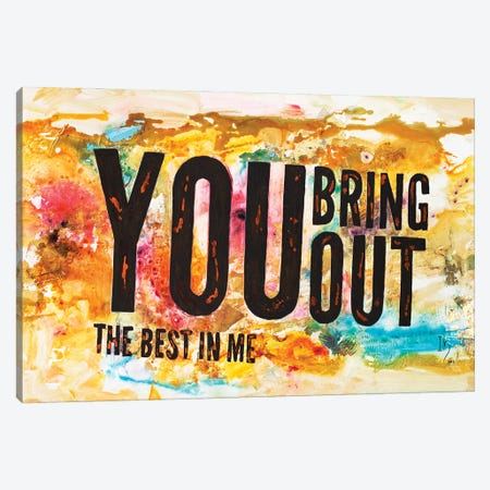 You Bring Out The Best In Me Canvas Print #IGU165} by Ivan Guaderrama Canvas Artwork