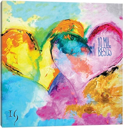 10 Mil Besos Canvas Art Print