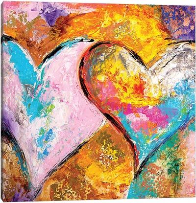 Bonding Hearts Canvas Art Print