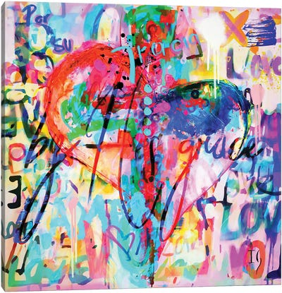 By his grace Canvas Art Print