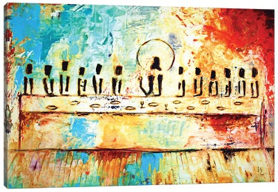 Abstract last supper Canvas Art Print