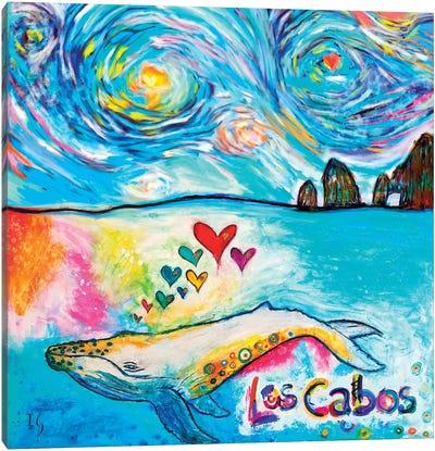 Los Cabos Whale Canvas Art Print