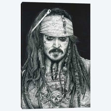 Captain Jack Canvas Print #IIK10} by Inked Ikons Canvas Wall Art