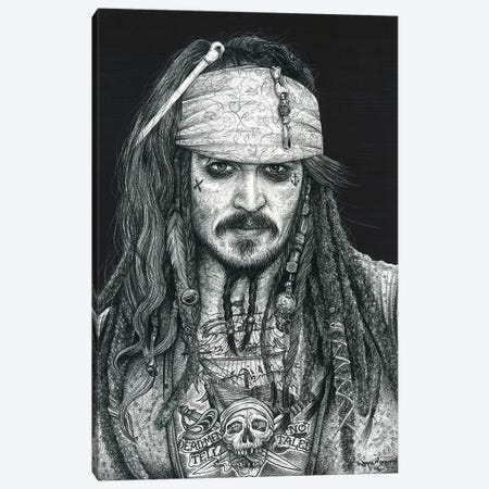Captain Jack Canvas Print #IIK10} by Inked Ikons Canvas Wall Art