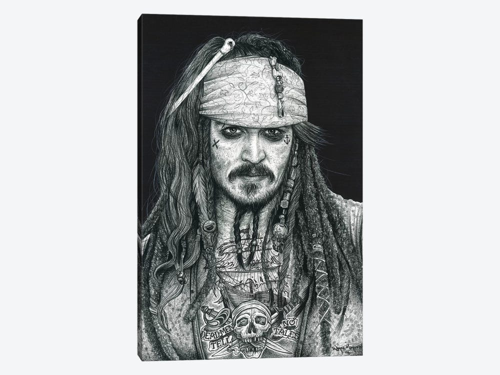 Captain Jack by Inked Ikons 1-piece Canvas Artwork