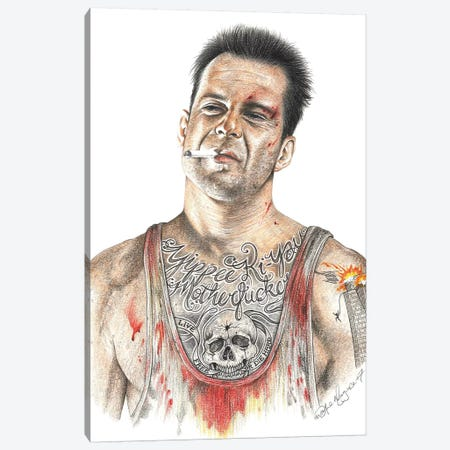Die Hard Canvas Print #IIK11} by Inked Ikons Canvas Artwork