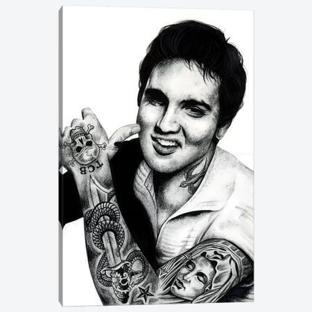 Elvis Canvas Print #IIK12} by Inked Ikons Canvas Artwork