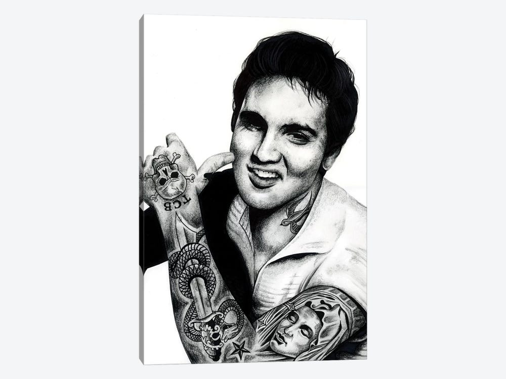 Elvis by Inked Ikons 1-piece Canvas Art