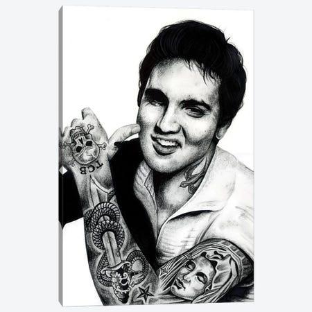 Elvis Canvas Print #IIK12} by Inked Ikons Canvas Artwork
