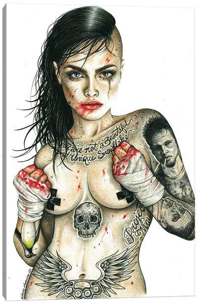 Fight Club Girl Canvas Art Print